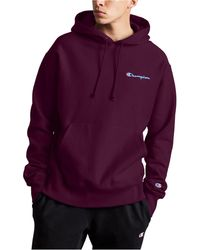 adidas Originals Cotton Trefoil Hoodie in Maroon (Red) for
