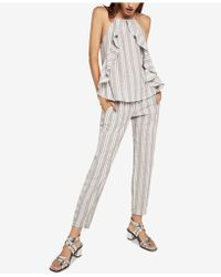 BCBGeneration - Striped Drawstring Ankle Pants - Lyst
