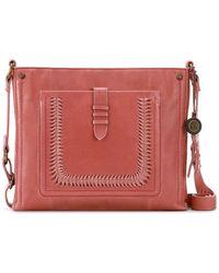 The Sak Heritage Leather Crossbody - Red