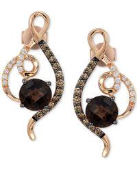 Le Vian - Chocolatier® Chocolate Quartz® (1-1/2 Ct. T.w.) & Diamond (1/3 Ct. T.w.) Drop Earrings In 14k Rose Gold - Lyst