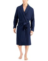 Alfani Moisture-wicking Robe, Created For Macy's - Blue