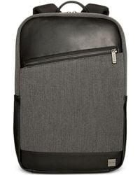 Knomo - Unisex Herringbone Backpack With Asymmetric Zipper - Lyst
