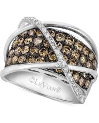Le Vian - Chocolatier® Diamond Crossover Statement Ring (2-3/4 Ct. T.w.) In 14k White Gold - Lyst