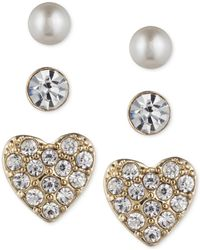 Lonna & Lilly - Trio Set Of Small Stud Earrings - Lyst