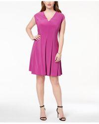 Love Scarlett - Plus Size Pleated Hardware Dress - Lyst