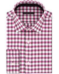 Sean John - Big & Tall Classic/regular Fit Pink Check Dress Shirt - Lyst