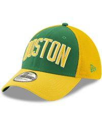 size 40 9bce1 01744 KTZ Boston Celtics Neon Mashup 9fifty Snapback Cap in Gray - Lyst