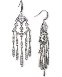 Carolee - Silver-tone Cubic Zirconia Chandelier Earrings - Lyst