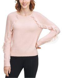Calvin Klein - Fringe-trim Sweater - Lyst