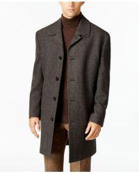 London Fog Coat, Coventry Wool-blend Overcoat - Gray