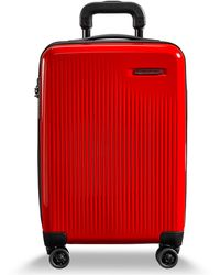 "Briggs & Riley Sympatico 19"" International Hardside Carry-on Spinner - Red"