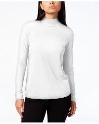 Eileen Fisher - Stretch Jersey Mock-neck Top, Regular & Petite - Lyst