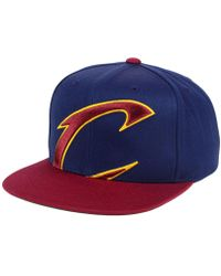 c3e1c3c2 Mitchell & Ness - Cleveland Cavaliers Cropped Xl Logo Snapback Cap - Lyst