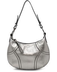 T Tahari Devon Leather Hobo - Metallic