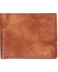 Kenneth Cole Reaction - Kingsway Extra-capacity Slim Leather Wallet - Lyst