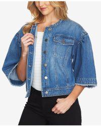 1.STATE - Cotton Wide-sleeve Denim Jacket - Lyst