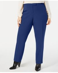Anne Klein - Plus Size Bowie Tab-front Trousers - Lyst