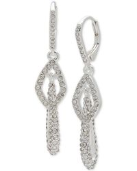 Anne Klein - Pavé Multi-link Drop Earrings - Lyst
