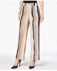 Nine West   Abstract-stripe Wide-leg Trousers   Lyst