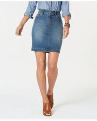 Style & Co. Petite Denim Skirt, Created For Macy's - Blue