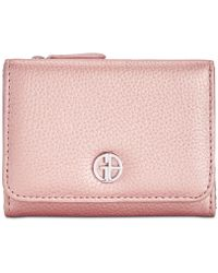 Giani Bernini Softy Leather Trifold Wallet, Created For Macy's - Pink