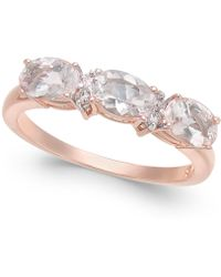 Macy's - Morganite (1-1/3 Ct. T.w.) & Diamond Accent Statement Ring In 14k Rose Gold - Lyst