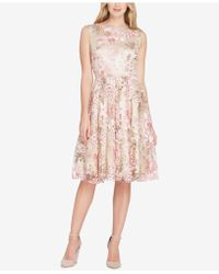 Tahari - Sequined & Embroidered Dress - Lyst