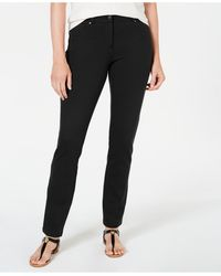Style & Co. Slim Pants, Created For Macy's - Black