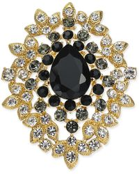 Charter Club Gold-tone Crystal Cluster Pin, Created For Macy's - Metallic