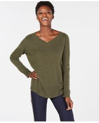 Charter Club - Pure Cashmere Oversized V-neck In Sweater In Regular & Petite Sizes, Created For Macy's - Lyst