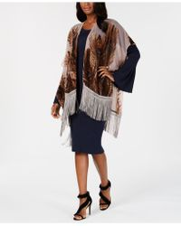 INC International Concepts - I.n.c. Burnout Velvet Feather Fringe Evening Wrap, Created For Macy's - Lyst