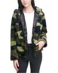 Calvin Klein Faux-fur Jacket - Black