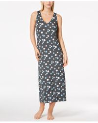 Alfani - Poppy-print Racerback Nightgown - Lyst