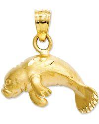 Macy's - 14k Gold Charm, Manatee Charm - Lyst