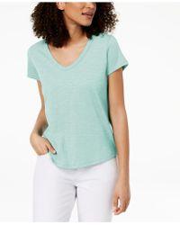 Eileen Fisher - Organic Cotton T-shirt, Regular & Petite - Lyst