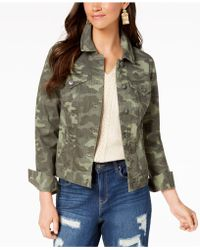 Style & Co. . Denim Jacket, Created For Macy's - Green
