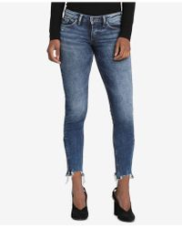 Silver Jeans Co. - Tuesday Raw-hem Skinny Jeans - Lyst