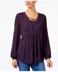 Style & Co. - Criss-cross Top - Lyst