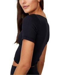 Cotton On Square Neck Seamless T-shirt - Black