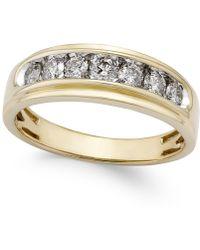 Macy's - Men's Diamond Band (3/4 Ct. T.w.) In 10k Gold - Lyst