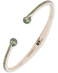 Givenchy Gold-tone And Rose Crystal Cuff Bracelet - Green
