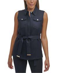Calvin Klein Belted Vest - Blue