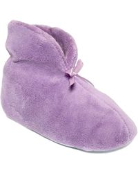 Muk Luks ® Chenille Boot Slippers - Purple