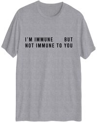Hybrid I'm Immune But Not To You Short Sleeve Graphic T-shirt - Gray