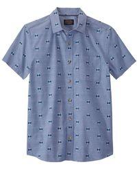 Pendleton Mens Carson Ss Shirt - Blue