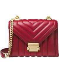 da05c7dbe57d Michael Kors - Michael Whitney Mini Quilted Leather Shoulder Bag - Lyst