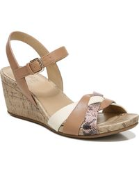 Naturalizer Adelina Wedge Sandals - Brown