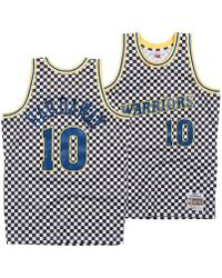 54305d753 Mitchell   Ness - Tim Hardaway Golden State Warriors Checkerboard Swingman  Jersey - Lyst
