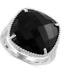 Effy Collection - Onyx Drama Ring (6-1/2 Ct. T.w.) In Sterling Silver - Lyst