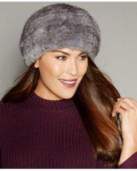 The Fur Vault Knitted Mink Fur Hat - Multicolor